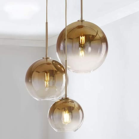 IJ INJUICY Tom Dixon Glass Ball Chandelier, European Art Bubble .