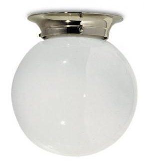 Lefroy Brooks Classic flush globe light, Bathroom ceiling lights .