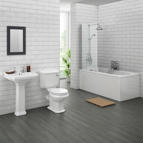 Legend Traditional Bathroom Suite at Victorian Plumbing