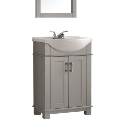 "Fresca Hartford 24"" Gray Traditional Bathroom Vanity at Menards"
