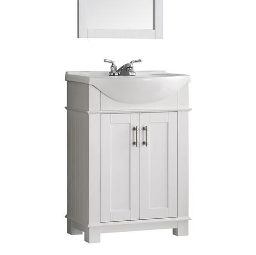 "Fresca Hartford 24"" White Traditional Bathroom Vanity at Menards"