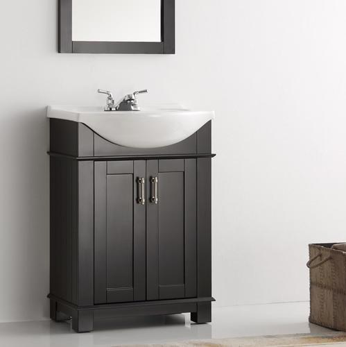 "Fresca Hartford 24"" Black Traditional Bathroom Vanity at Menards"