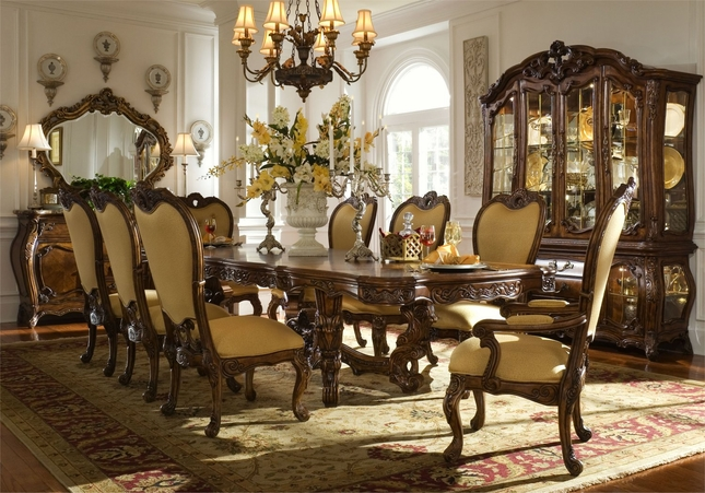 Michael Amini Palais Royale Rococo Cognac Traditional Dining Room .
