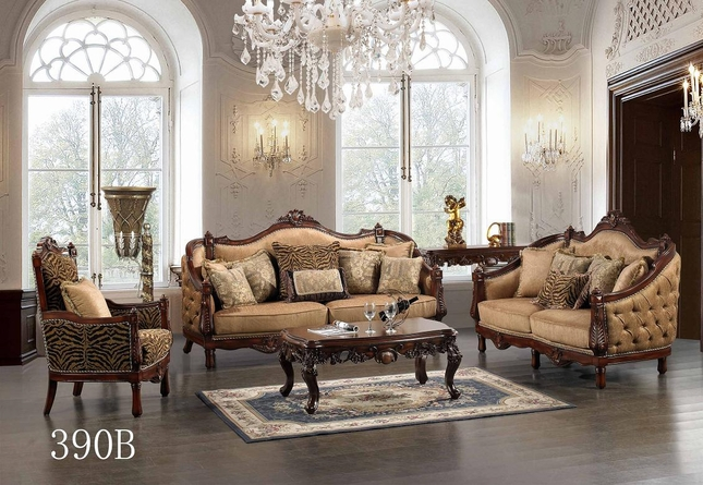 Luxurious Traditional Style Formal Living Room Set HD-39