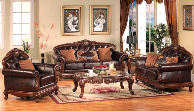 Traditional Living Room Leather - Interior Design Meani