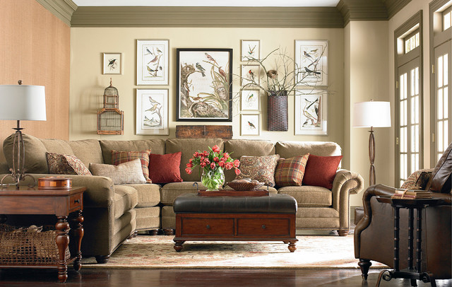 HGTV Home Custom Upholstery Large Curved Corner Sectional by .