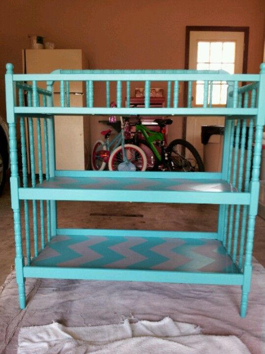 Painted Changing table. I think I can find one just like this at .