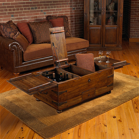 Thakat Bar Box Trunk Coffee Table - Wine Enthusia