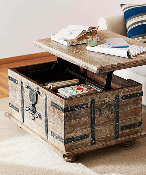 Rustic Trunk Coffee Table - Hope Che