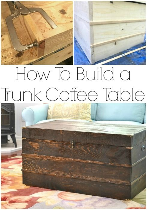 Trunk Coffee Table Plans | Coffee table plans, Diy coffee table .