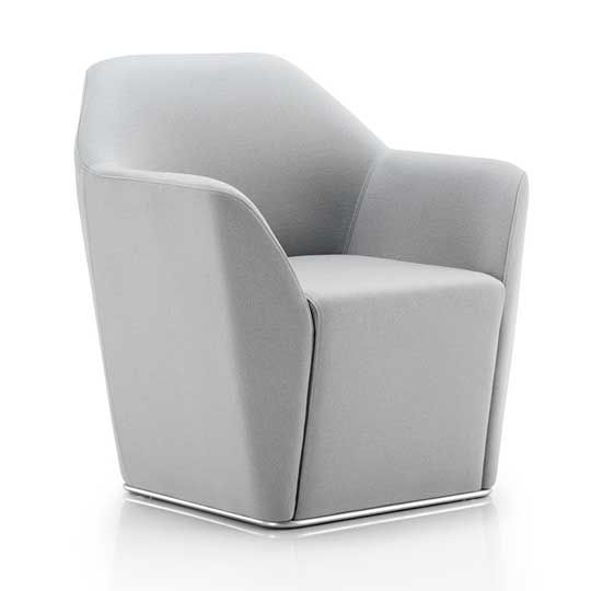 Chamfer Swivel Tub Chair | Meridian Office Furnitu