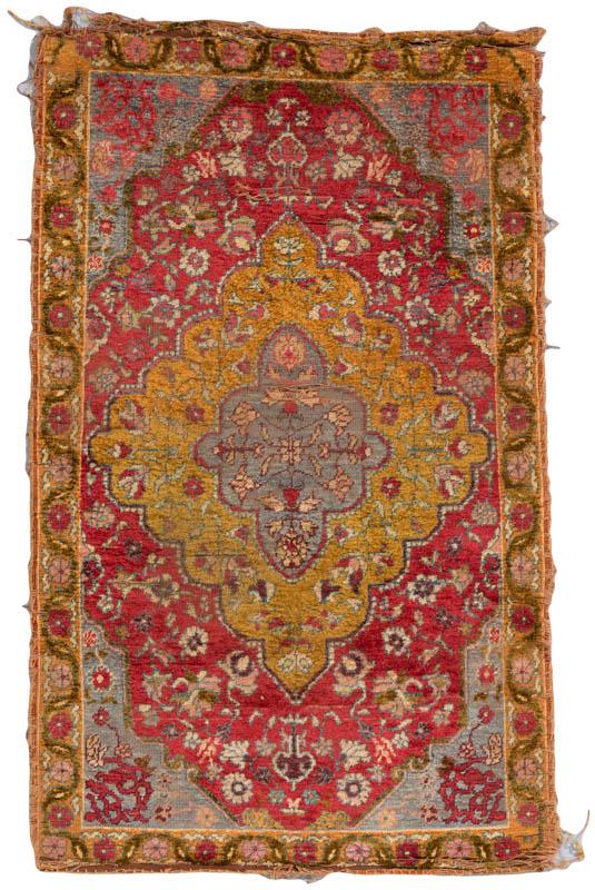 Antique Turkish All Silk Worn Rug - Kebabian's Ru