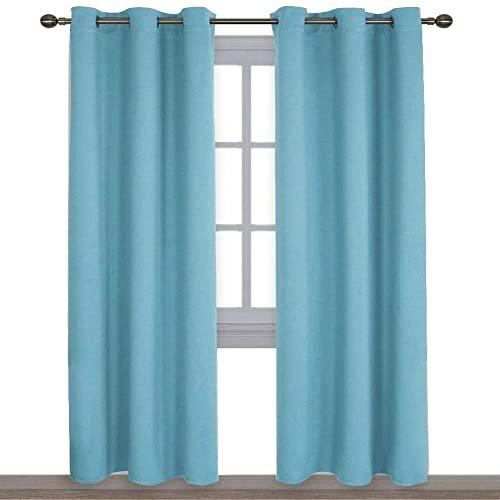 Turquoise Bedroom Curtains: Amazon.c