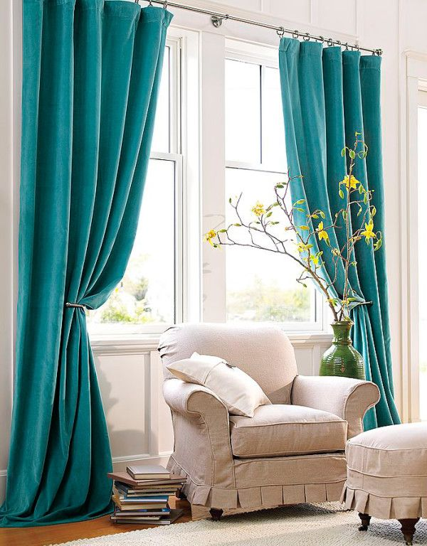 Turquoise window curtains in home decor | Turquoise curtains, Home .