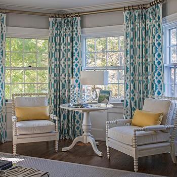 Turquoise Curtains | Turquoise curtains, Interior desi