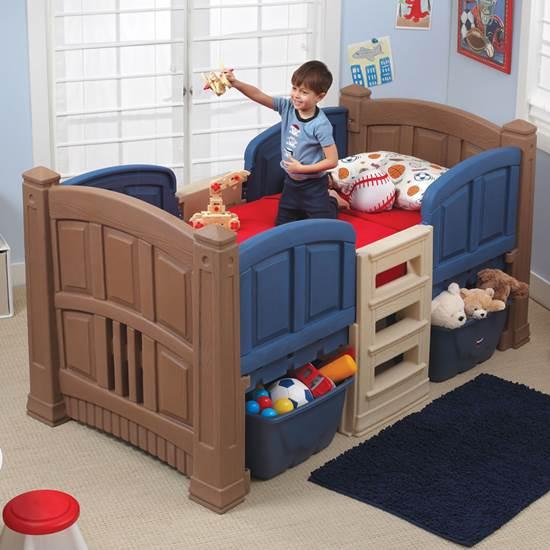 Boy's Loft & Storage Twin Bed | Kids Bed | Ste
