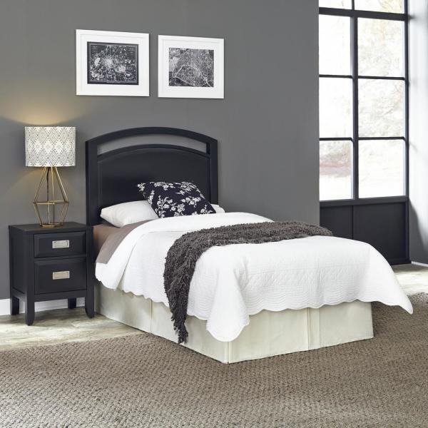 HOMESTYLES Prescott Black Twin Headboard 5514-401 - The Home Dep