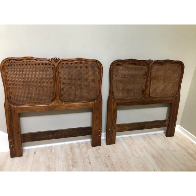 Vintage Cane French Twin Headboards - a Pair | Chairi