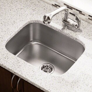 "Polaris Sinks 23.5"" L x 18.25"" W Single Bowl Undermount Stainless ."