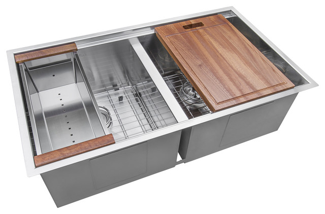 "Ruvati 33"" Workstation Undermount Stainless Steel Kitchen Sink ."