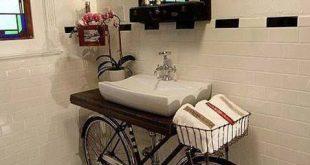 25 unique bathroom vanities made from furniture - bike sink - Life .