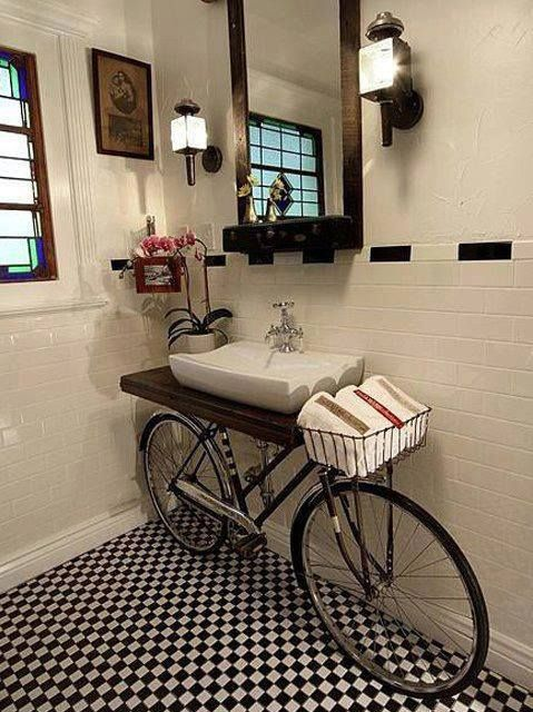 25 unique bathroom vanities made from furniture - bike sink - Life .