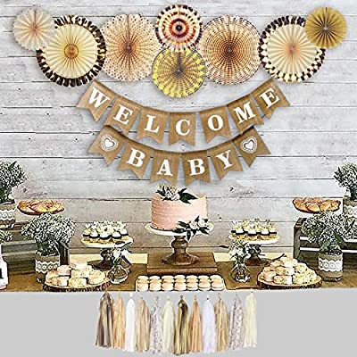 YARA Neutral Baby Shower Decorations for Coed, Unisex, Boy or Girl .