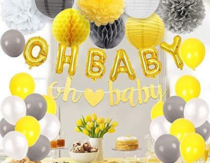 Amazon.com: JOYMEMO Baby Shower Decorations Neutral for Boy or .
