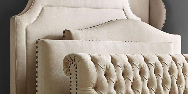 Upholstered bed headboards – comfortable,functional and decorative .