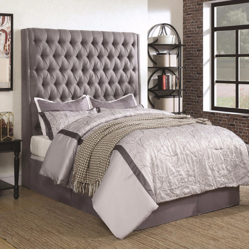 Camille Grey Upholstered Headboard - All American Furniture - Buy .
