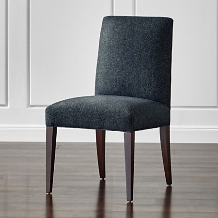 Miles Navy Blue Upholstered Dining Chair | Crate and Barr