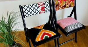 How To: DIY Upholstered Folding Chairs | Folding chair makeover .