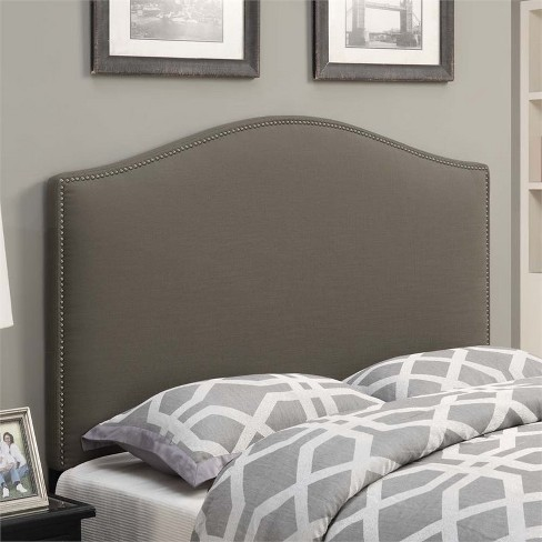 Wood Camel Back Upholstered King Headboard In Taupe Brown-PRI : Targ