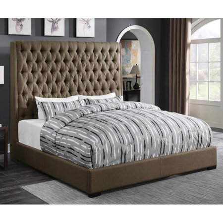 Coaster Company Camillie Upholstered Eastern King Headboard, Brown .