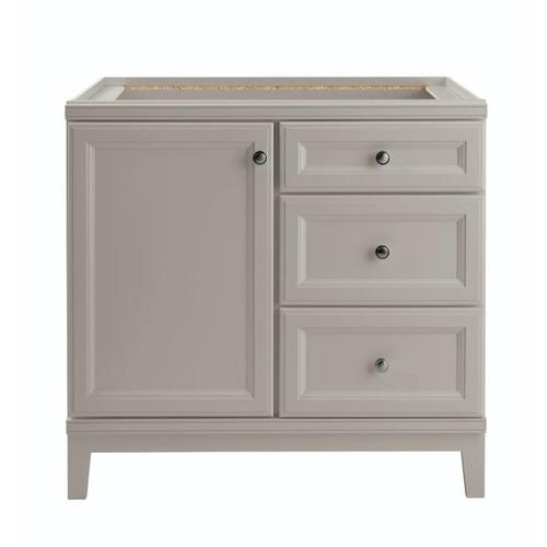 Diamond FreshFit Calhoun 36-in Cloud Gray Bathroom Vanity Cabinet .