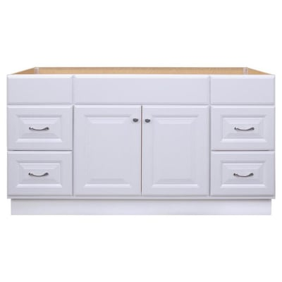Project Source 60-in White Bathroom Vanity Cabinet at Lowes.c