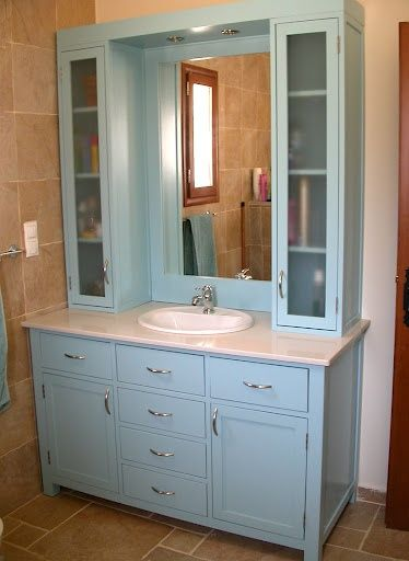 upper cabinets for bathrooms | Bathroom vanity with upper cabinets .