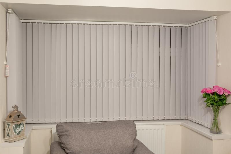 Bay Window Blind stock image. Image of cool, blind, safety - 1045039