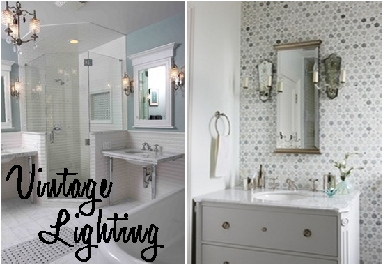 Bathroom Vintage Bathroom Lighting Ideas Incredible On Within .