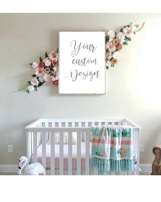 Custom quote typography Wall art for Nursery decor Baby room art .
