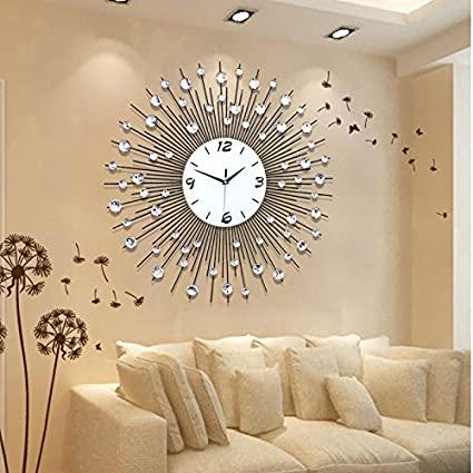 Amazon.com: CGGGHY Stylish Living Room Wall Clock Creative Modern .