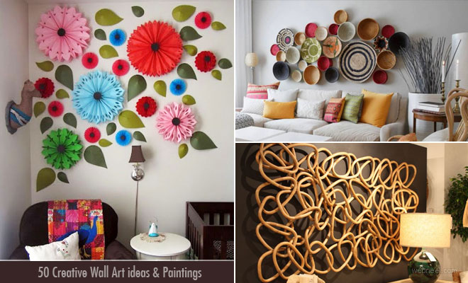 50 Creative Wall Art ideas and Wall Paintings for your inspirati