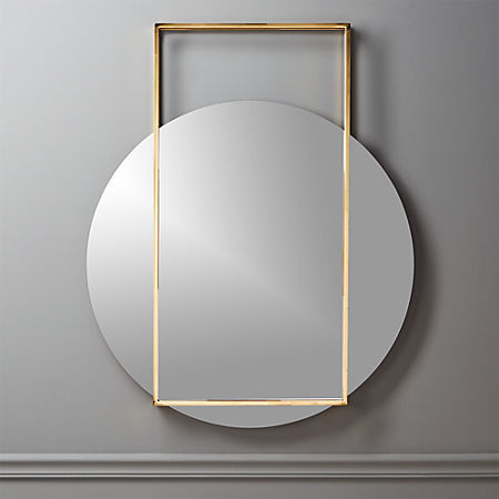 Pendulum Gold Wall Mirror + Reviews | C