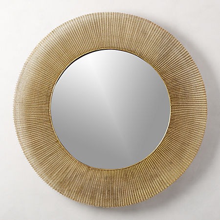 "Sunburst Round Wall Mirror 42"" + Reviews 