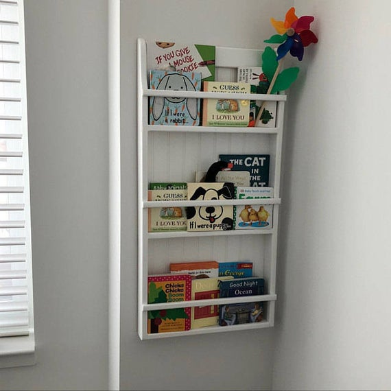 Hanging Wall Bookshelf / Plate Rack Wall Mounted Plate Display | Et