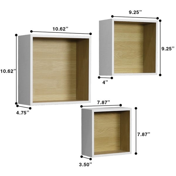 Shop Sorbus Floating Shelf Square Cube Set - Wall Mounted Shelves .