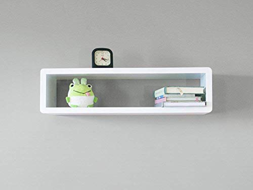 Amazon.com: Modern Slim Floating Shelf, Wall Mount Cube Shelf .