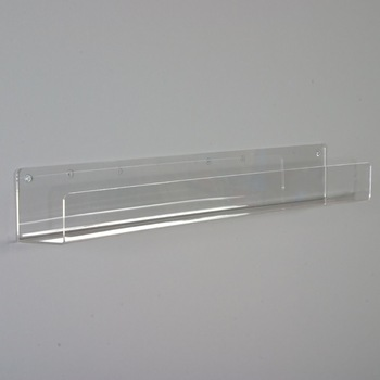 Clear Flat Shelves 3-1/2 Deep,Wall Mounted Acrylic Display Shelf .