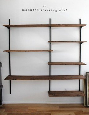 Wooden Wall Mounted Shelves - Ideas on Fot