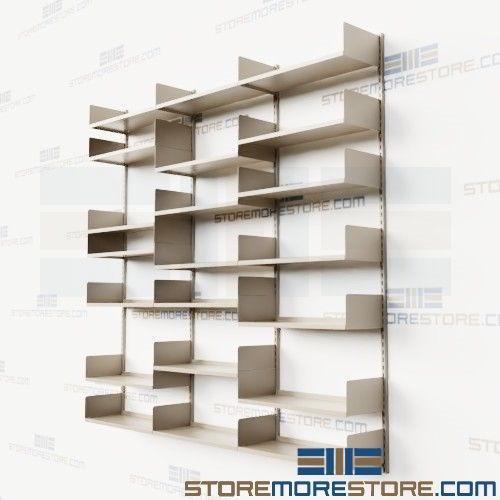Adjustable Wall Mounted Storage Shelves Steel Tracks Brackets .